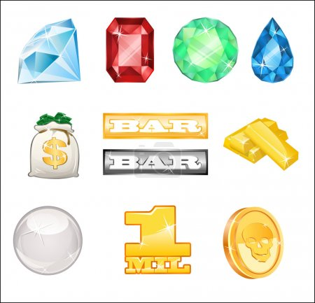 Bright casino icons