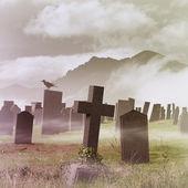 cimetière brumeux