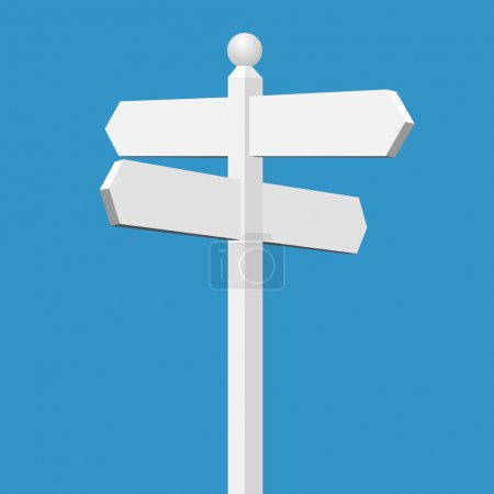 Illustration for A Blank White Sign Post - Royalty Free Image