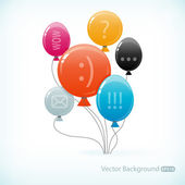 Různobarevné balónky