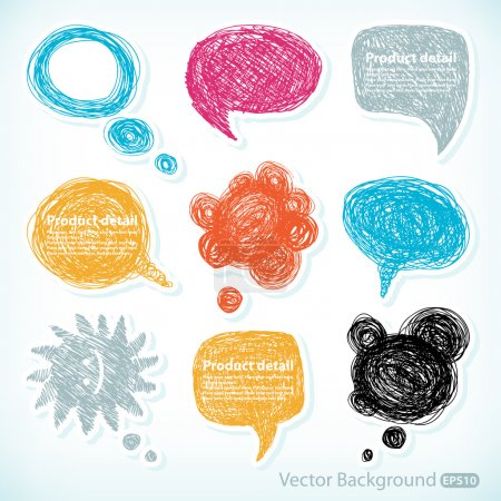Hand-drawn speech bubbles illustration