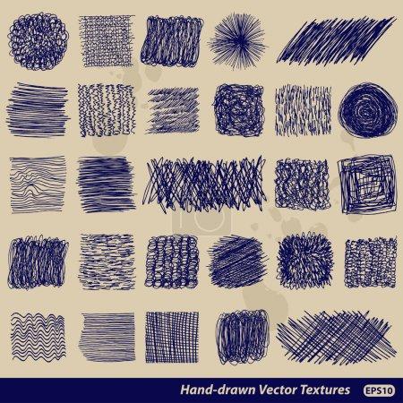 Hand-drawn vector textures