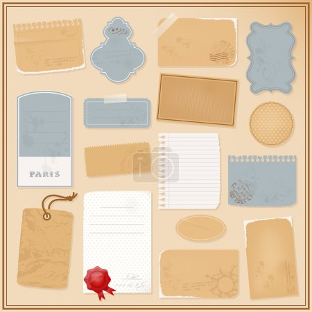 Illustration for Different paper objects for your design - Royalty Free Image