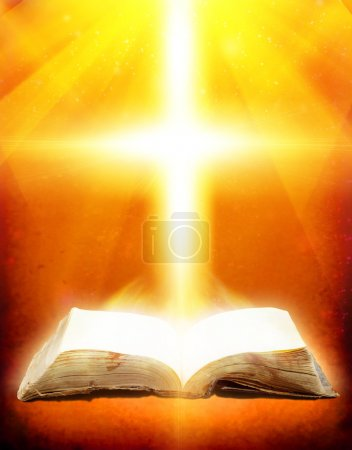 Photo for Old book with Ray of light - Royalty Free Image
