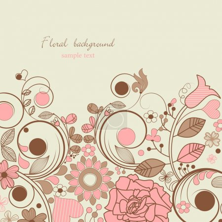 Vintage romantic floral background