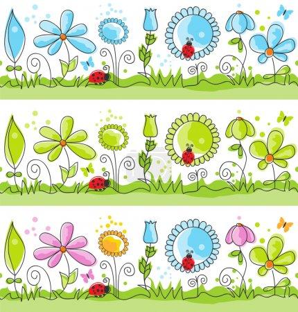Photo pour Lignes décoratives florales d'été - image libre de droit