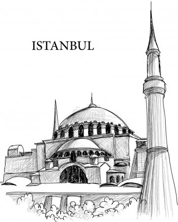 Istanbul St. Sophia cathedral sketch