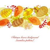 Autumn leaves background (seamless pattern)