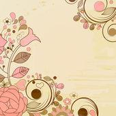 Staré stránky papíru, květinové dekorace