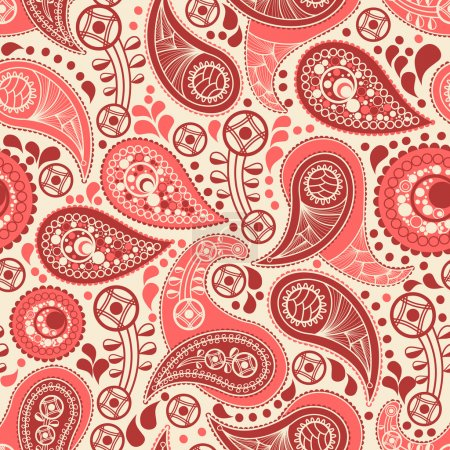 Illustration for Paisley seamless pattern - Royalty Free Image