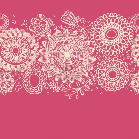 Illustration for Floral background (seamless pattern) - Royalty Free Image