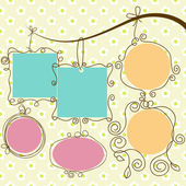 Cute frames hanging retro style