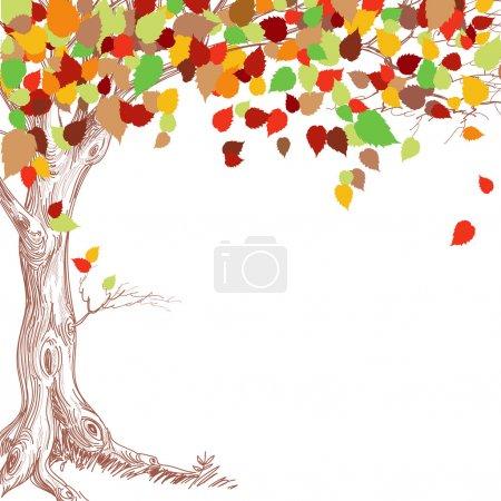 Illustration for Autumn tree background - Royalty Free Image
