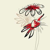 Művészi absztrakt virágok