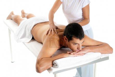 man receiving massage relax treatment from