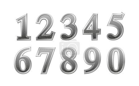 Metal Number vector