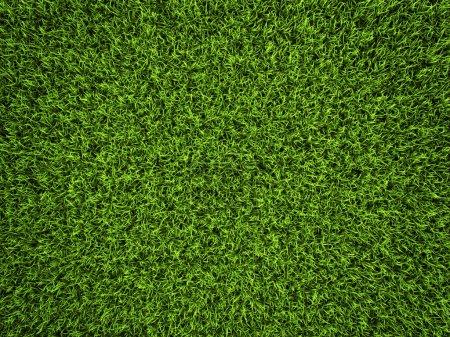 Photo pour Fond d'herbe, gazon de soccer vert frais, rendu 3d - image libre de droit