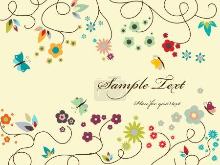 Illustration pour Carte de vœux florale vectorielle - image libre de droit