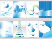 """Постер, картина, фотообои """"синий дизайн брошюры"""""""