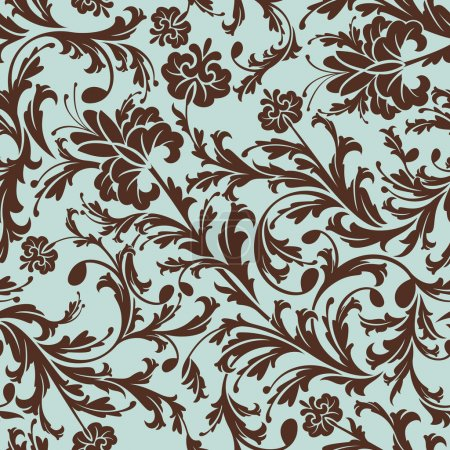 Photo pour Illustration vectorielle de motif floral sans couture rétro abstraite - image libre de droit