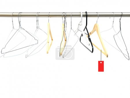 Photo for A coat hanger isolated against a white background - Royalty Free Image