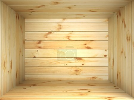 Photo for Box of light wood inside - Royalty Free Image