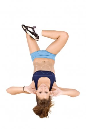 Girl doing fitness excersises