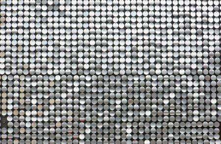 Photo pour Fond scintillant avec petits cercles réfléchissants - image libre de droit