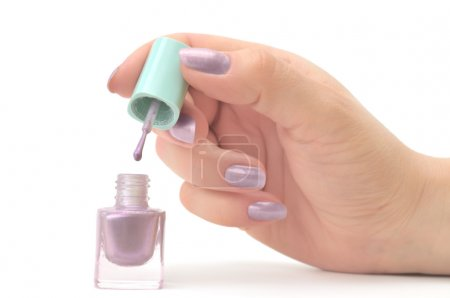 Photo for Nail polish isolated on a white - Royalty Free Image