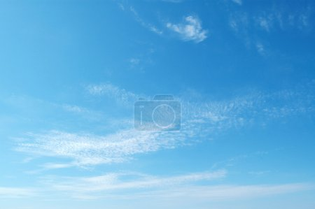 Photo for Clouds in blue sky - Royalty Free Image