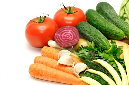 Photo for Vegetables on a white - Royalty Free Image