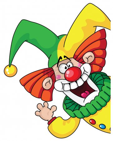 Illustration for Illustration of a clown head - Royalty Free Image