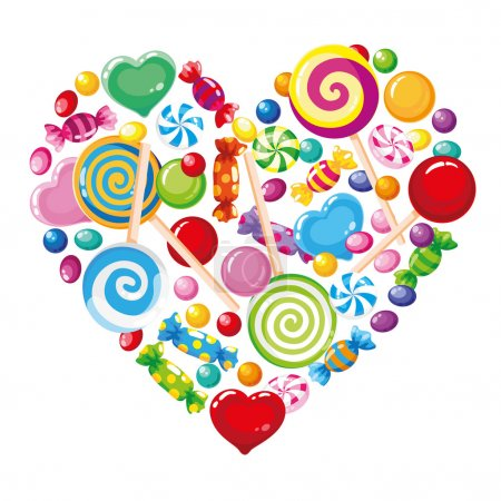 Candy heart white