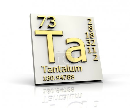 Tantalum form Periodic Table of Elements