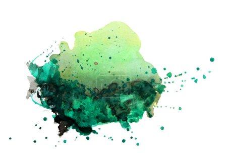 Photo pour Aquarelle abstraite peint à la main milieux - image libre de droit