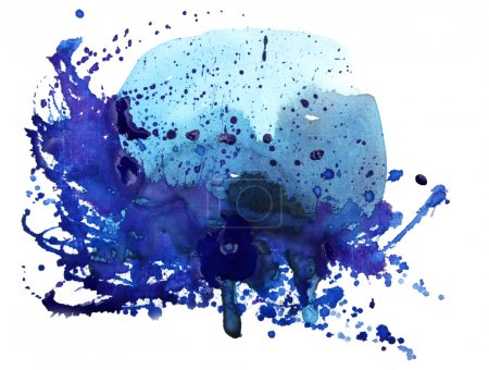 Photo for Watercolor abstract hand painted backgrounds - Royalty Free Image