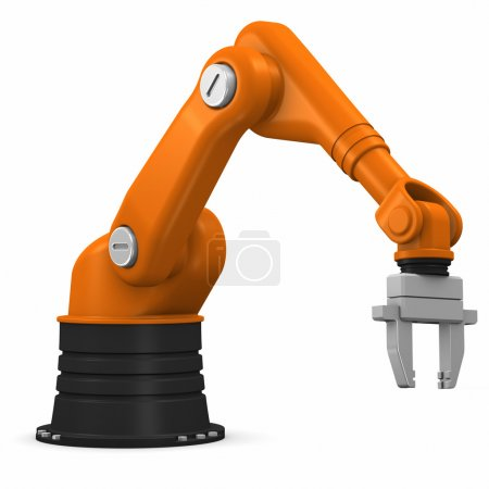 Photo for Industrial robotic arm isolated on white background - Royalty Free Image