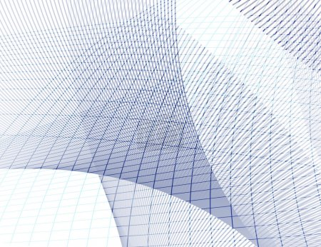 Photo for Grid texture - blue and gray lines on white background - Royalty Free Image