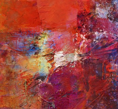 Photo for Abstract art - acrylics and oils background - Royalty Free Image