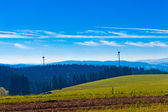 Black Forest Landscape with wind turbines