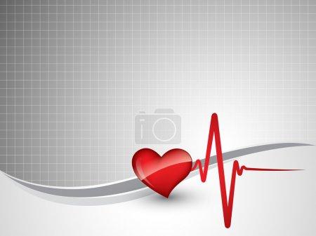 Photo for Heart beats vector illustration - Royalty Free Image