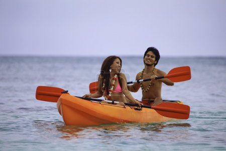 Couple in their kayak