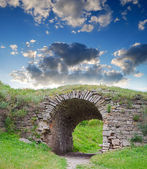 Ruins of an ancient arch