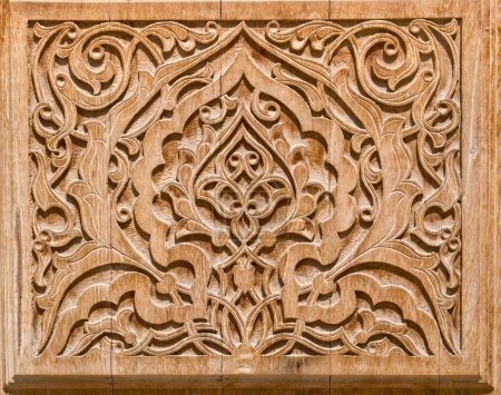 Art of wood carving.