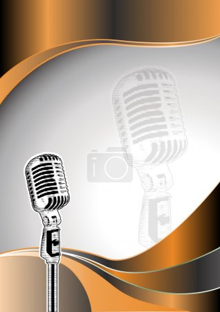 Microphone metal background