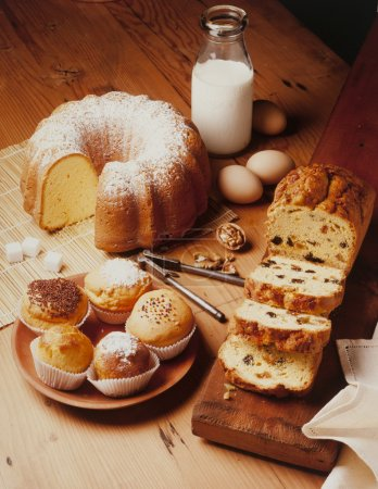 Photo for Warm and delicious bakery preparations - Royalty Free Image