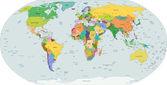 Mappa politica globale del mondo, vettoriale