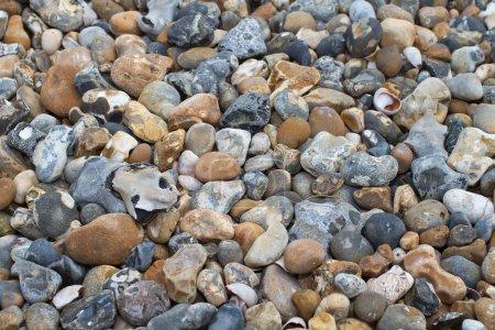 Photo pour Gros plan de cailloux et de pierres sur une plage - image libre de droit