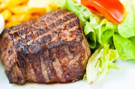 Juicy steak veal