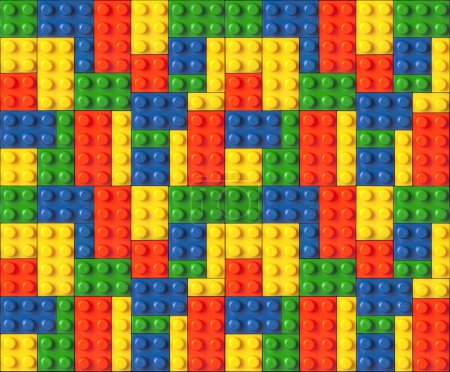 Photo for Color Lego background texture - Royalty Free Image